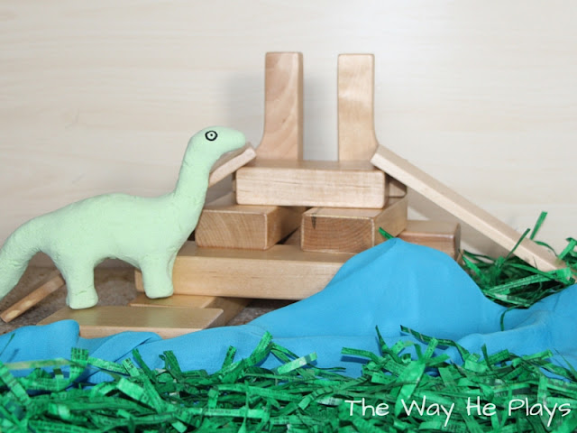 Small world play for Arlo from The Good Dinosaur