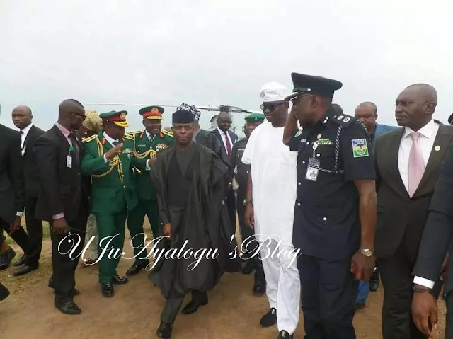 Acting president Osinbajo visits Governor Fayose in Ekiti