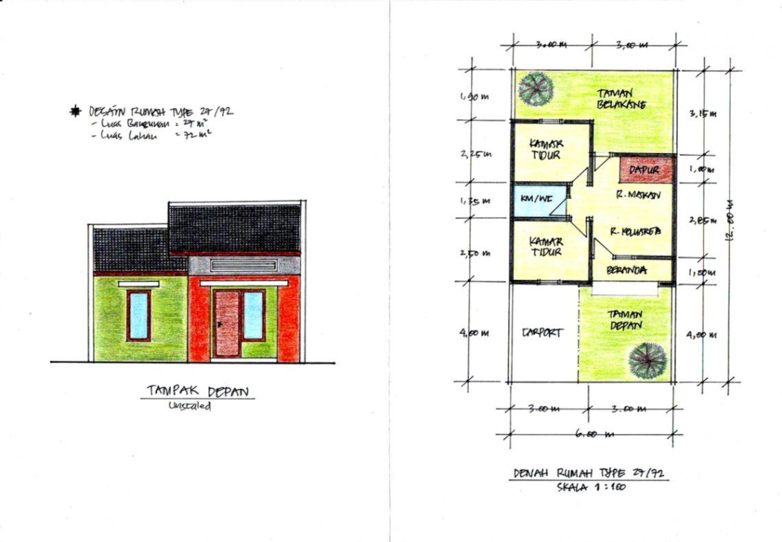 Dekorumah45 Best Denah Rumah Minimalis Modern Ukuran 5x8
