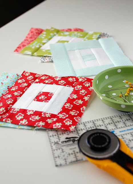 Love these little blocks from the Patchwork Quilt Along.  Free block pattern available!