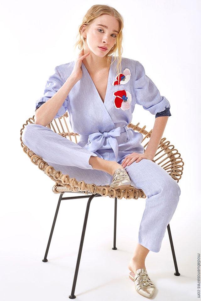 Moda en ropa de mujer primavera verano 2019.