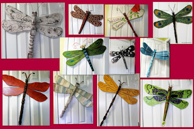 recycled art dragonfly
