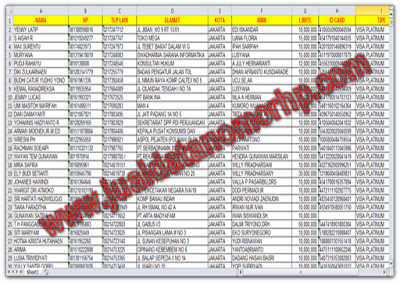 Download Database Nasabah Perbankan