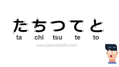 Aprender Japonés - たちつてと Ta Chi Tsu Te To