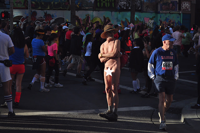naked American man male Bay to Breakers San Francisco erect penis cock