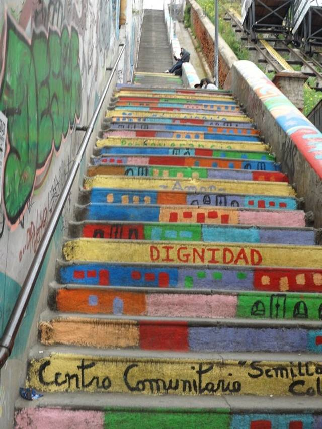 Selected Works Of Street Artists Performed On The Stairs Of Different  Cities Of The World