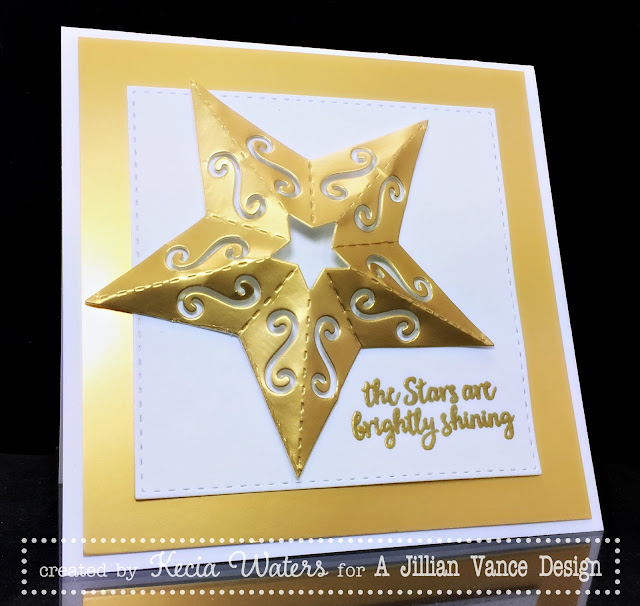 AJVD, Kecia Waters, Christmas Star, star, gold