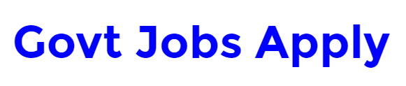 Govt Jobs Apply Online Recruitment notifications