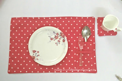 Free sewing pattern DIY Fabric Coasters and placemats