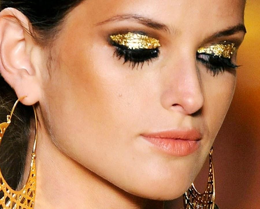 maquiagem glitter, carnaval