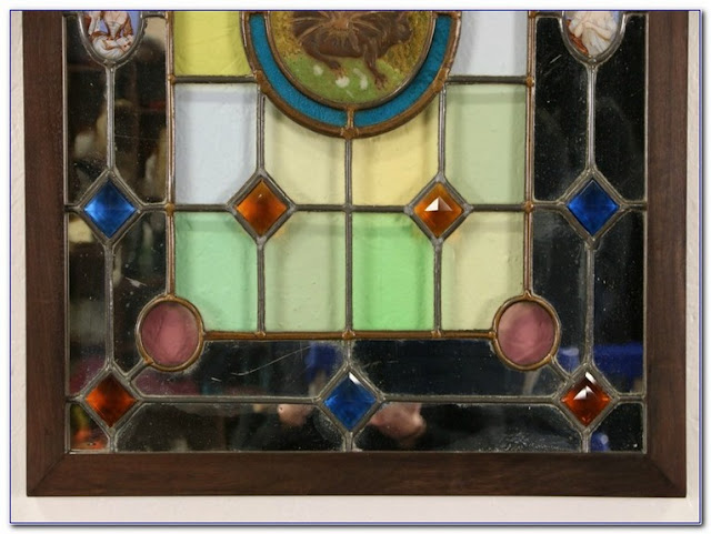 Salvaged Stained GLASS WINDOWS for sale UK