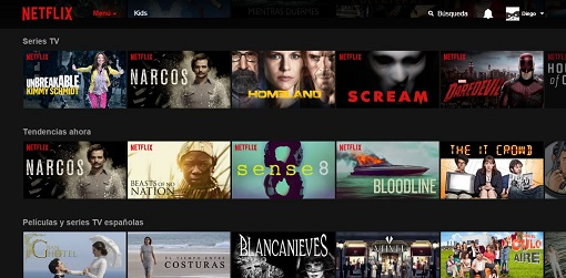 Narcos, Beasts of No Nation, Gran Hotel y Homeland, entre otras, en Netflix