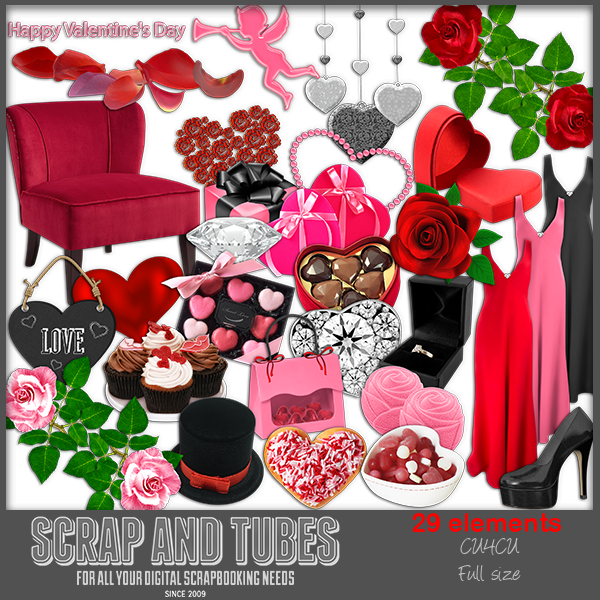 New In Stores Valentine Elements 7 Fscu4cu Scrap And Tubes