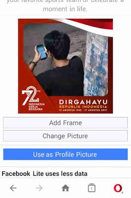 Cara Membuat Foto Profil Kemerdekaan Dirgahayu Indonesia