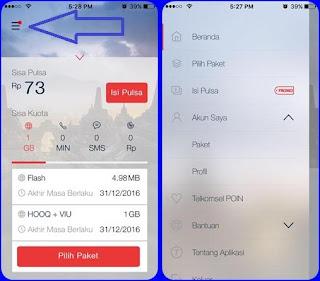 cara cek kuota telkomsel via aplikasi mytelkomsel