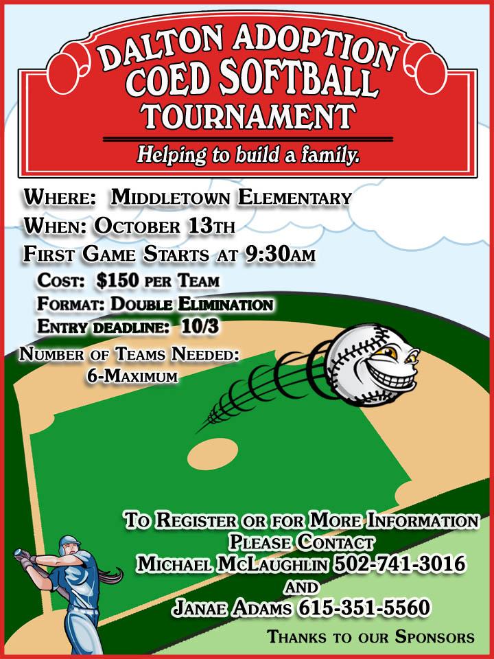 building a family gods way softball tournament info