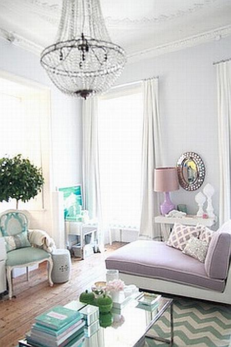 beautiful pastel livingroom
