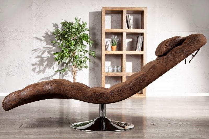 dizajnove moderne kreslo v hnedej eko koži