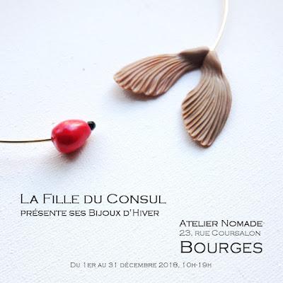 Bijoux d'hiver de LA Fille du Consul à Bourges : Atelier Nomade, 23 rue Coursalon jusqu'au 31 décembre 2018