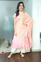Actress Ritu Varma Pos in Beautiful Pink Anarkali Dress at at Keshava Movie Interview .COM 0054.JPG
