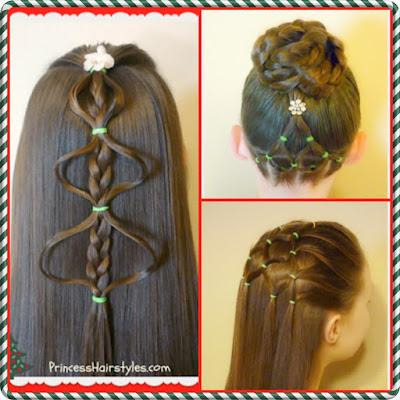 3 Cute Christmas Tree Hairstyle Tutorials!
