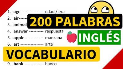 Esta lista de vocabulario contiene las palabras más usadas en este ingles y como puedes ver las he colocado en orden alfabético para facilitar su aprendizaje.