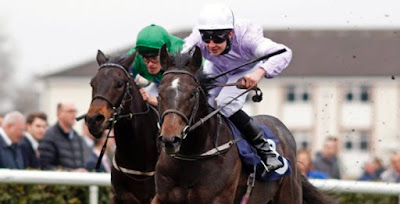 Izzer beating Broken Spear in Brocklesby Stakes