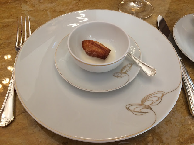 Madeleine amuse-bouche at the Salon Proust, Ritz Paris