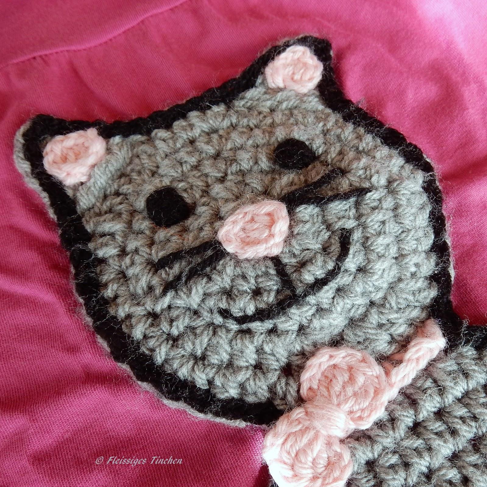 Mütze häkeln - Katze