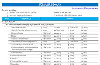 formulir kuesioner aplikasi SIM PMP