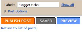 add catrgories to each post on blogspot