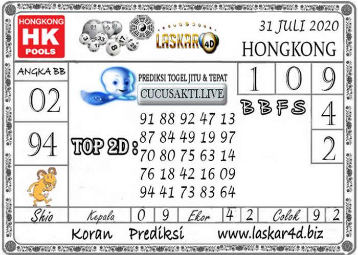 Kode syair Hongkong Jumat 31 Juli 2020 275
