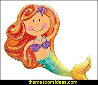 "Party Fun Decor Merry Mermaid 38"" Giant Foil Balloon"
