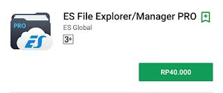 Download App Aplikasi ES File Explorer Pro Gratis Free Terbaru