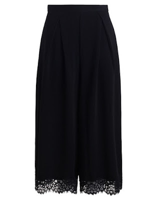 spodnie culotte l rozkloszowane spodnie czarne