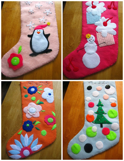 homemade felt stockings