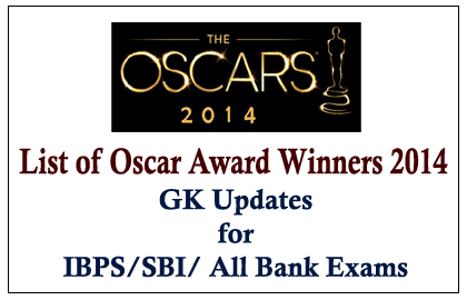 List of Oscar Award Winners 2014