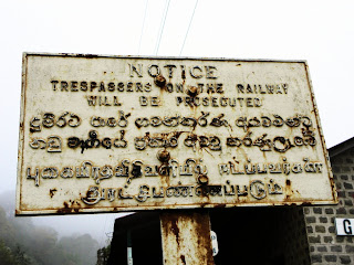 Warning sign Sri Lanka Railway