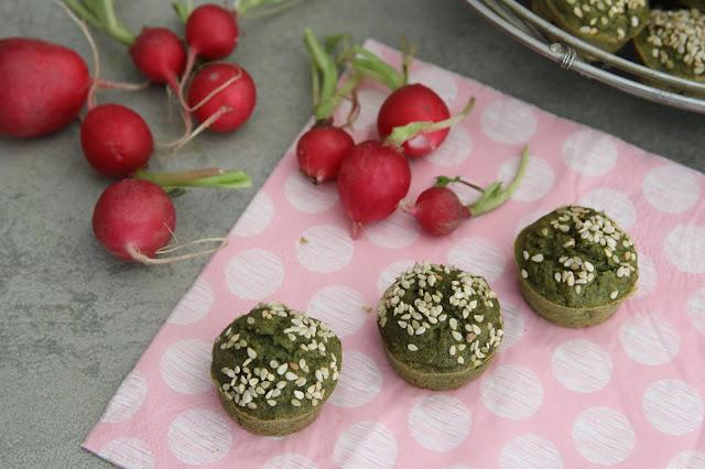 Muffins aux fanes de radis (vegan)