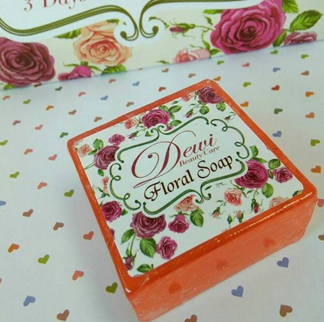 dewi beauty care floral soap