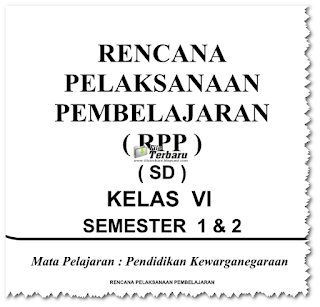 Download RPP PKN KTSP Kelas 1 2 3 4 5 6 Gratis 2016