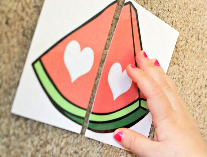 watermelon shape match