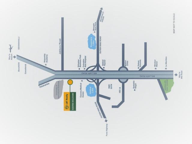 L&T Raintree Boulevard Location Map