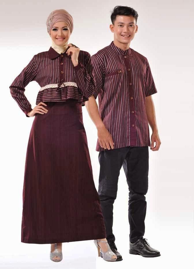25 Model Baju Lebaran Couple Untuk Idul Fitri 2018
