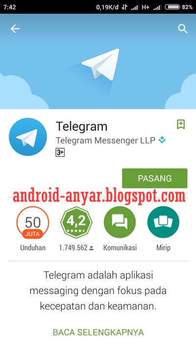 Download dan Install Aplikasi Telegram for Android APK Terbaru