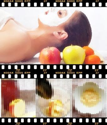 masker apel untuk wajah berjerawat