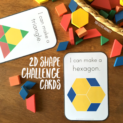 2D Shape Challenge Cards | you clever monkey