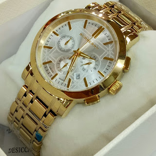 Jam tangan Burberry gold