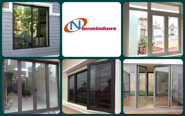 Hình ảnh một số sản phẩm cửa nhôm kính cường lực Xingfa