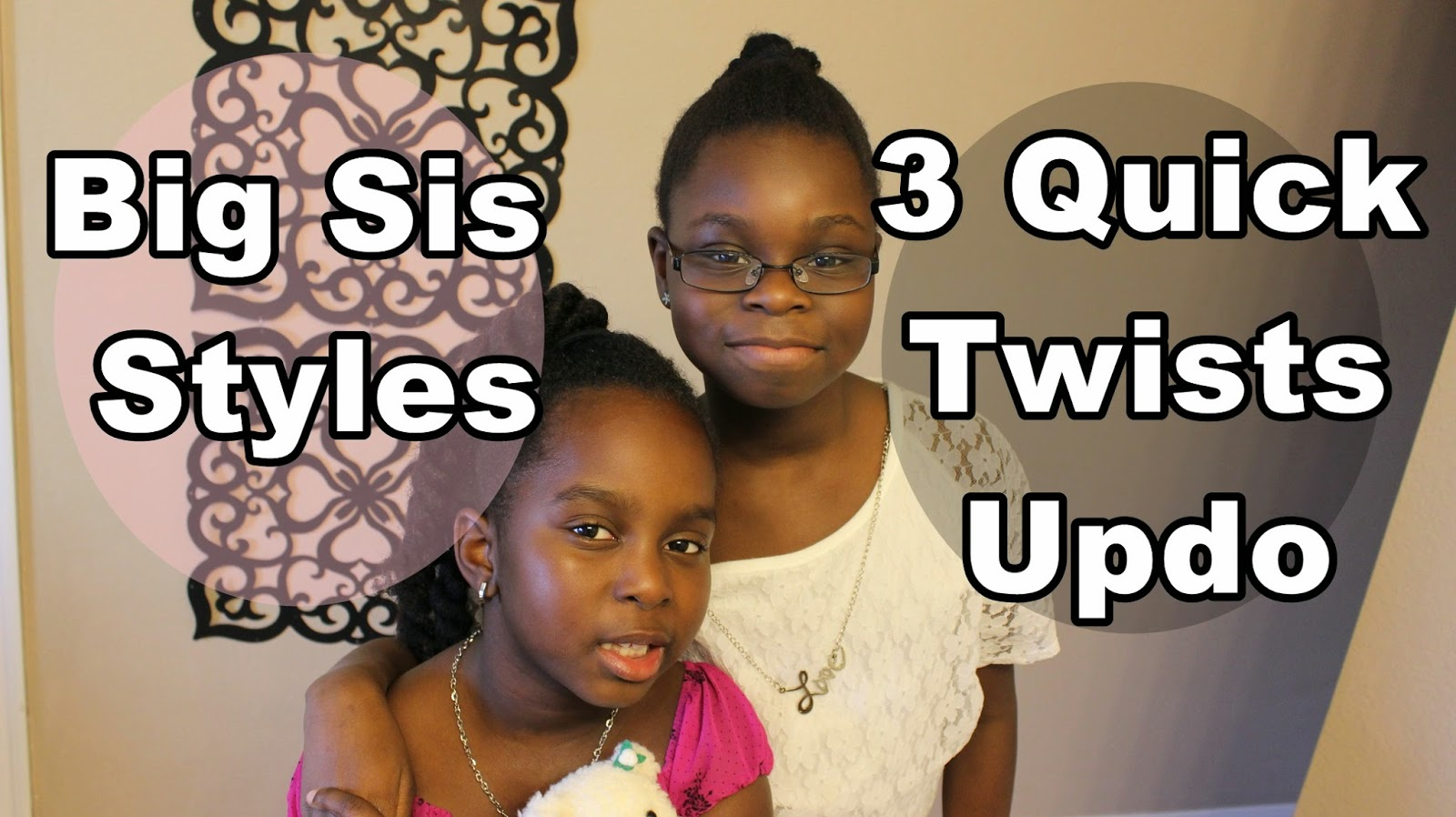 3 Quick Twists Updo on Natural Hair